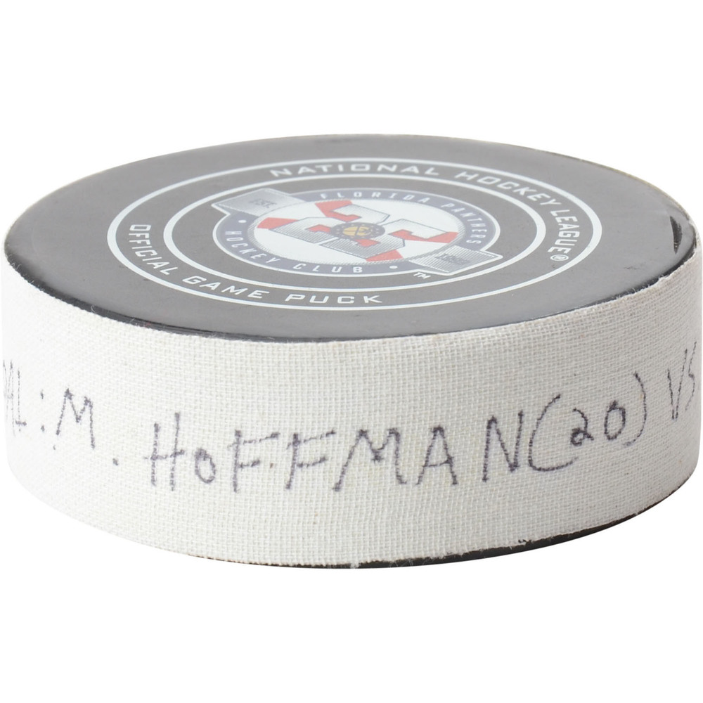 Mike Hoffman Florida Panthers Game-Used Goal Puck from January 5, 2019 vs. Columbus Blue Jackets