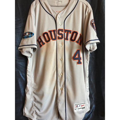 Photo of George Springer 2018 Game-Used ALCS Jersey