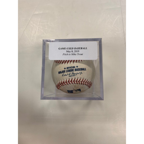 Photo of Game-Used Baseball: Mike Trout Foul Ball