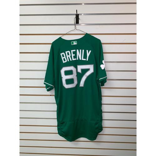Photo of Mike Brenly Team Issued 2017 St Patrick's Day Jersey