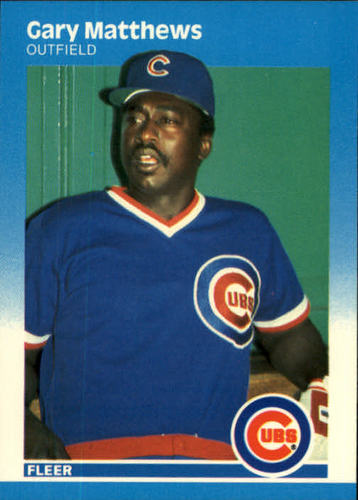 Photo of 1987 Fleer #568 Gary Matthews