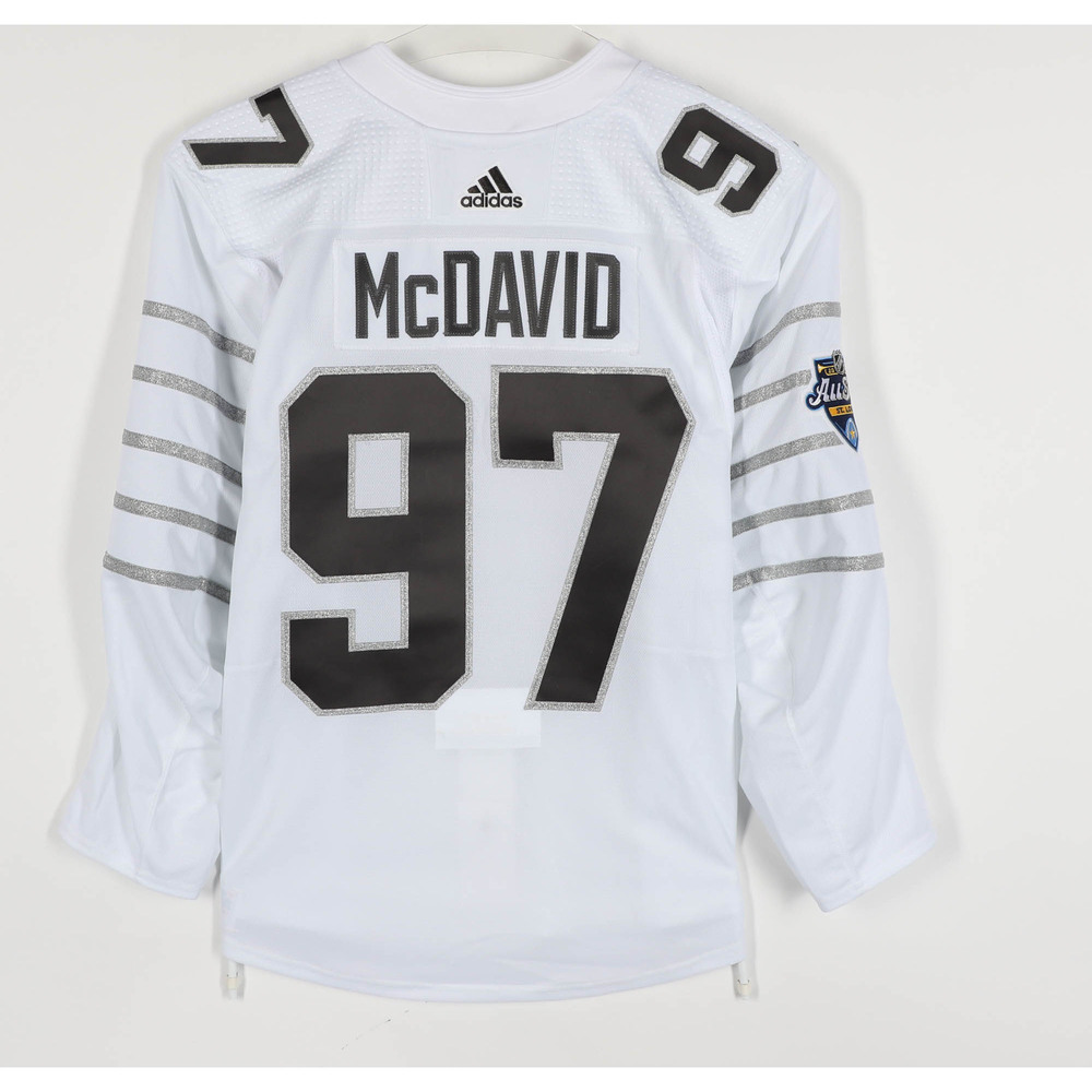 Connor McDavid Edmonton Oilers Game-Used 2020 All-Star Game Jersey