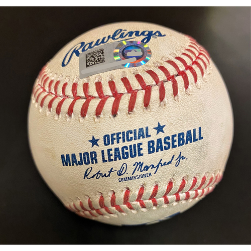 Photo of Brett Phillips Kansas City Royals Home Run Baseball (MLB AUTHENTICATED)
