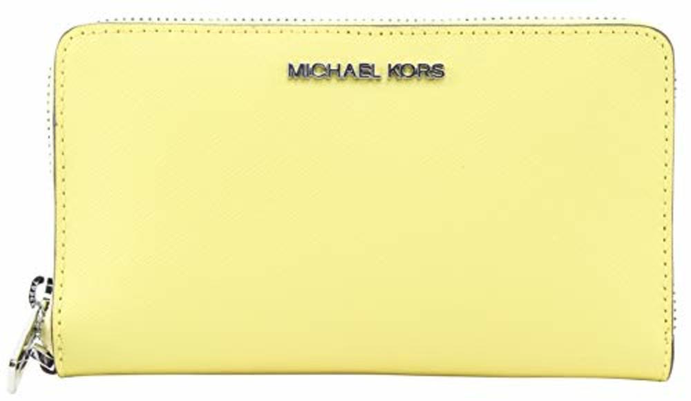 Photo of Michael Kors Jet Set Travel Medium Zip Around Phone Holder Wristlet Sunshine