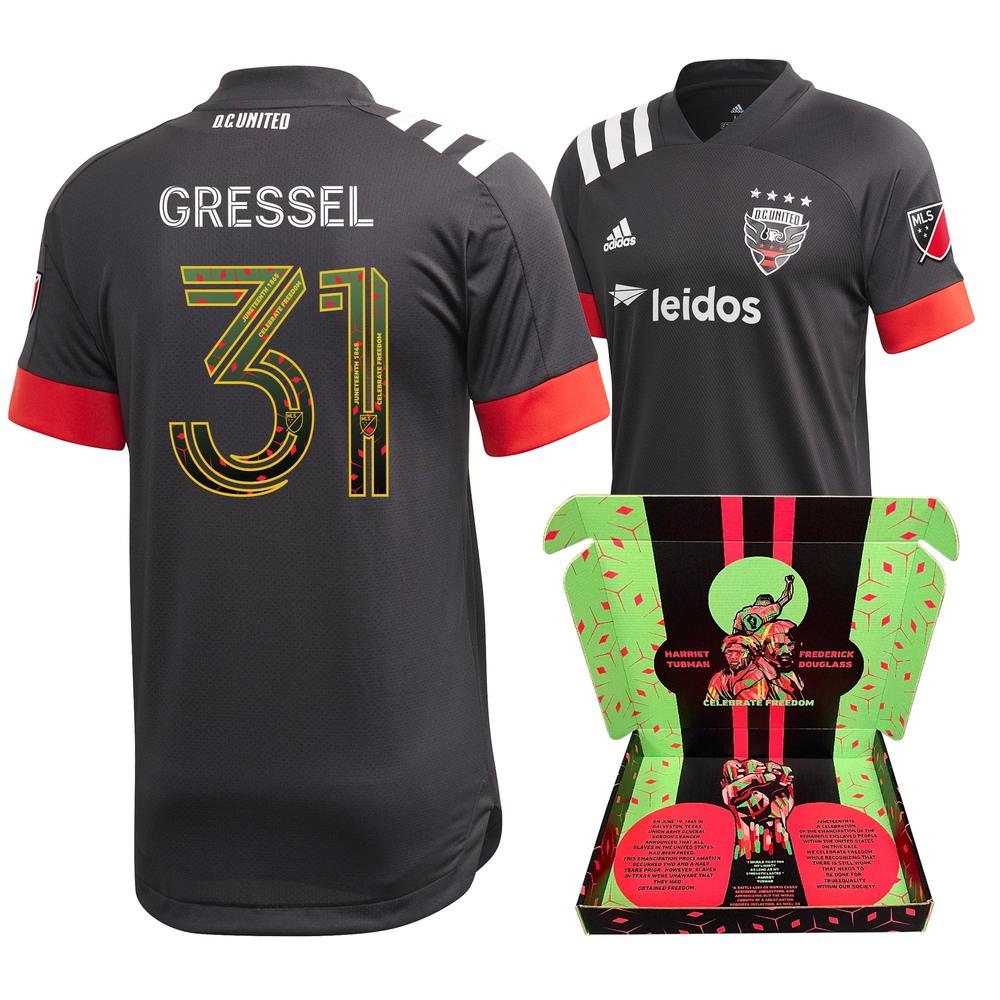 Julian Gressel D.C. United Match-Used & Signed