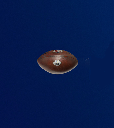 """Photo of Authentic """"The Duke"""" Game used football (10/17/2021 VS. New York Giants)"""