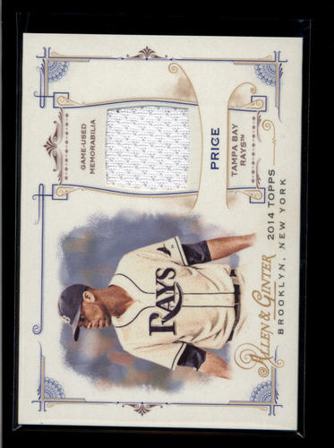 Photo of 2014 Topps Allen and Ginter Relics #FRBDP David Price B