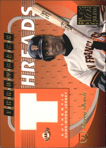 Photo of 2001 Donruss Elite Throwback Threads #TT4 Barry Bonds