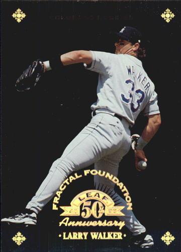 Photo of 1998 Leaf Fractal Foundations #114 Larry Walker