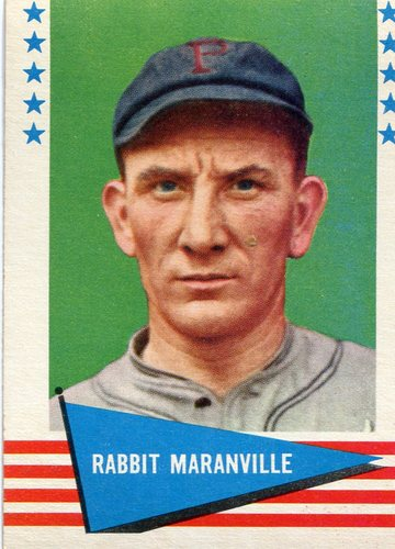 Photo of 1961 Fleer #124 Rabbit Maranville -- Hall of Fame Class of 1954