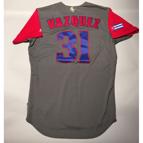 2017 WBC: Cuba Game-Used Road Jersey, Vazquez #31
