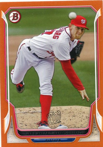Photo of 2014 Bowman Orange #213 Stephen Strasburg 89/250