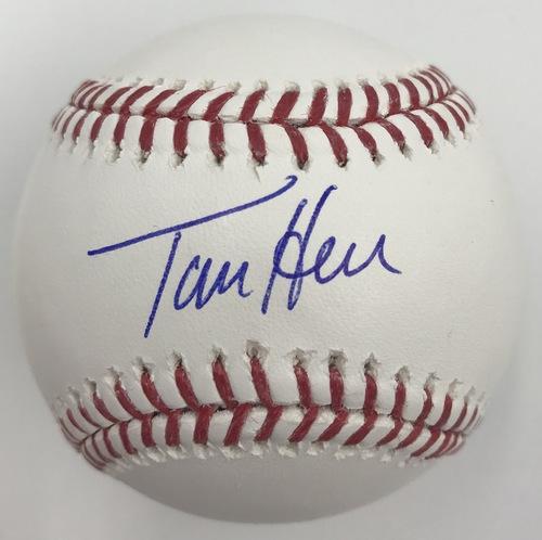 Photo of Tom Herr Autographed Baseball