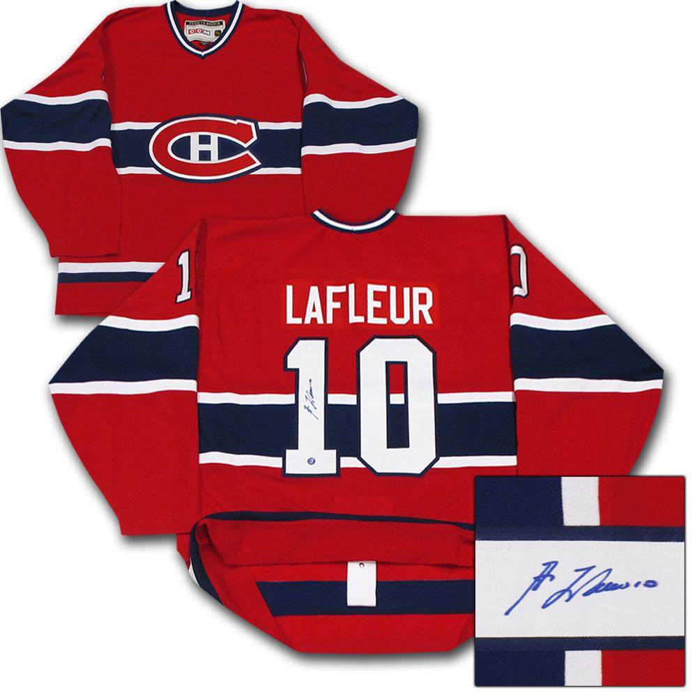 on sale ffdc5 4f2bc Guy Lafleur Autographed Montreal Canadiens Authentic Pro ...