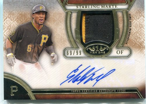 Photo of 2015 Topps Tier One Autograph Relics Starling Marte 69/99