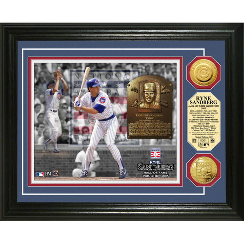 Photo of Ryne Sandberg Baseball HOF Gold Coin Photo Mint