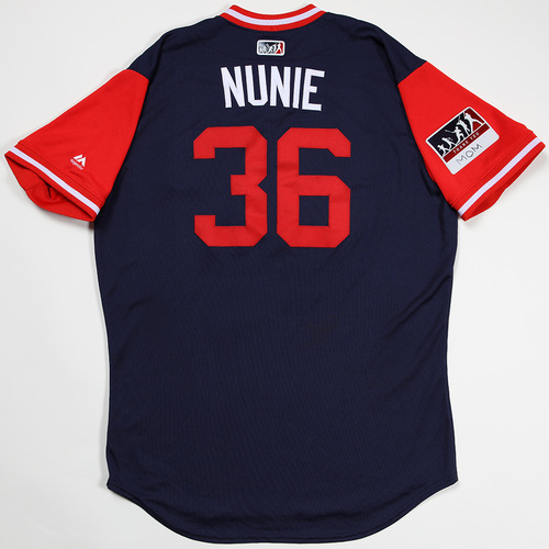 "Photo of Eduardo ""Nunie"" Nunez Boston Red Sox Game-Used 2018 Players' Weekend Jersey"