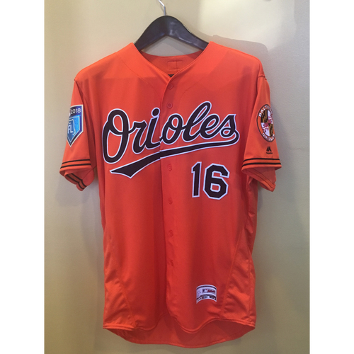 Photo of Trey Mancini - Spring Training Jersey: Team-Issued