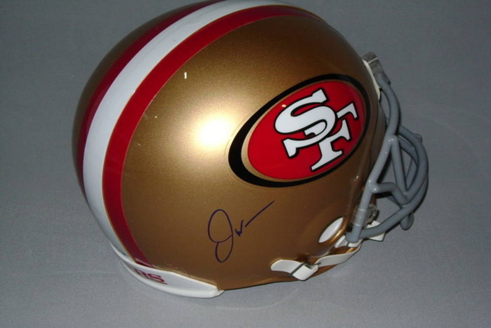 NFL - 49ERS JOE WILLIAMS SIGNED 49ERS PROLINE HELMETS