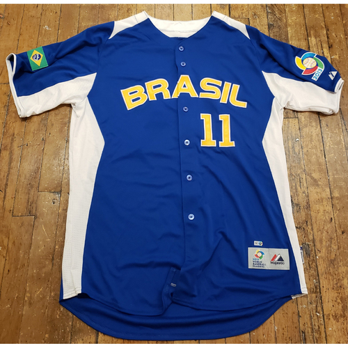 Photo of 2013 World Baseball Classic Game Used Jersey - Barry Larkin - Size 46 (Brazil)