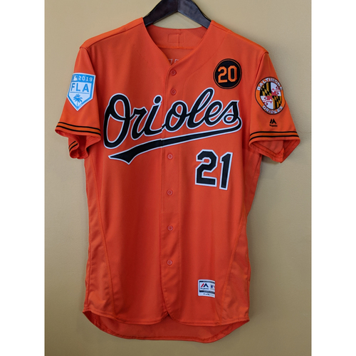 Photo of Austin Hays - 2019 Spring Training Jersey: Game-Used
