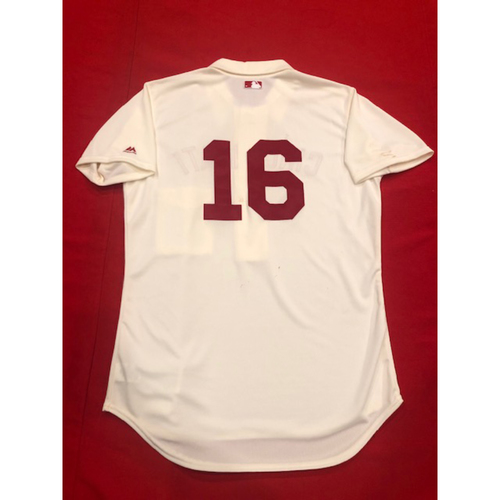Photo of Tucker Barnhart -- 1902 Throwback Jersey -- Game-Used -- SF vs. CIN on May 4, 2019