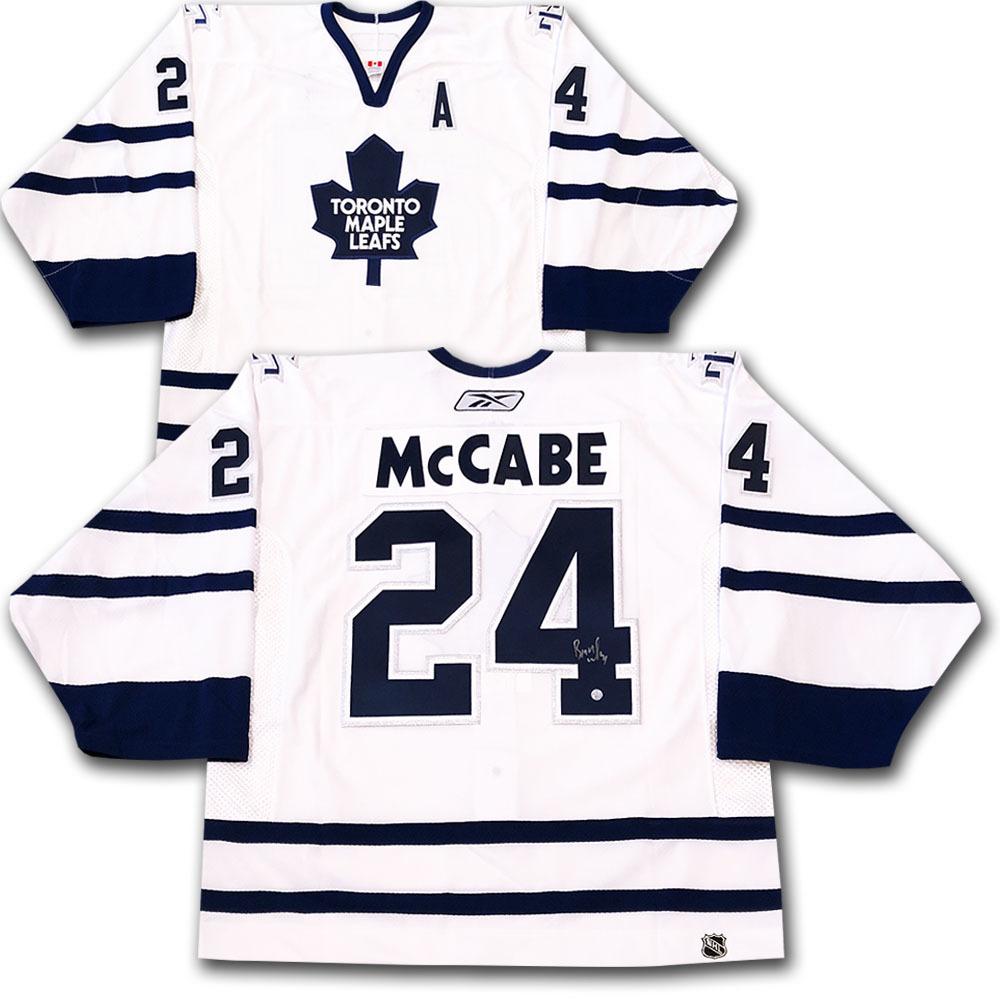 Bryan McCabe Autographed Toronto Maple Leafs Pro Jersey