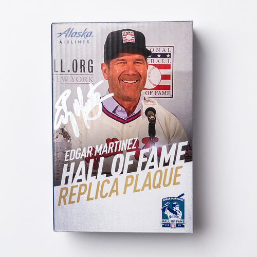 Mariners Care: Replica Hall of Fame Plaque Autographed by Edgar Martinez