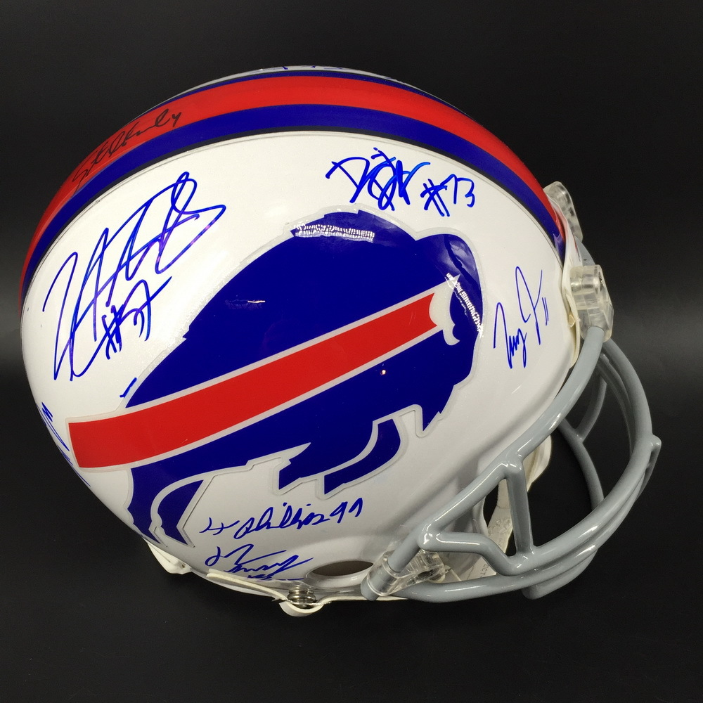 Bills - 2019 Team Signed Helmet signed by 20 Players Including (Allen, Edmunds, Beasley, Gore, Ford, White, Brown and more)