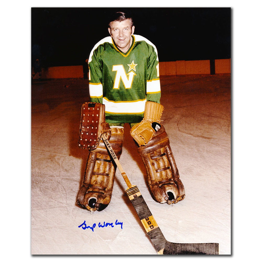 Gump Worsley Minnesota North Stars Autographed 8x10 Photo - NHL Auctions