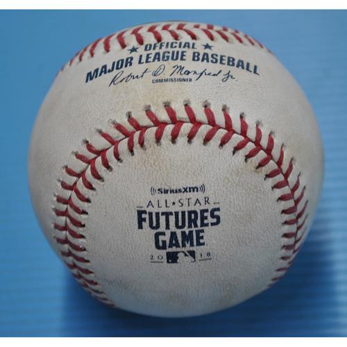 Game-Used Baseball - 2018 All-Star Futures Game - Pitcher - Shaun Anderson, Batters - Fernando Tatis Jr./Yusniel Diaz - Flyout/Swinging Strike - Top 7