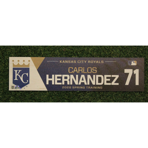 Photo of Game-Used Spring Training Locker Tag: Carlos Hernandez #71
