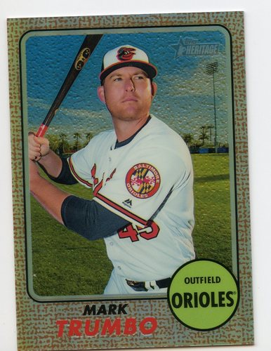 Photo of 2017 Topps Heritage Chrome Refractors #THC461 Mark Trumbo