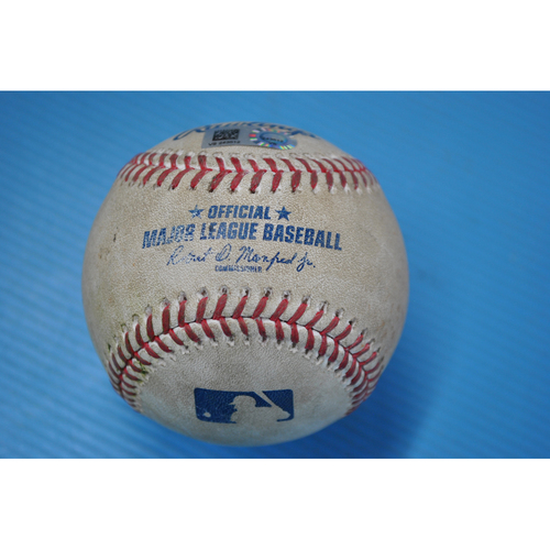 Photo of Game-Used Baseball - DET at PIT - 8/7/2020 - Pitcher - Matthew Boyd (DET), Batter - Josh Bell, Bot 3, Single