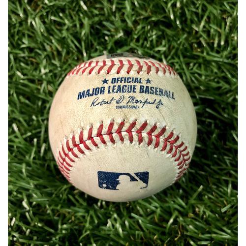 Photo of Game Used Baseball: Matt Joyce double off Pete Fairbanks - September 4, 2020 v MIA