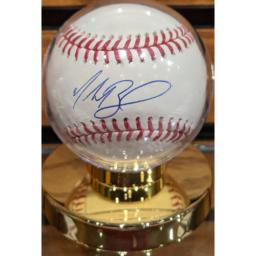 Photo of Mookie Betts Autographed Baseball