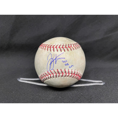 Photo of Joey Votto *Game-Used, Autographed & Inscribed* Baseball from 300th Career HR Game - Dillon Maples to Nick Senzel (Foul) -- 04/30/2021 - CHC vs. CIN - Bot 8