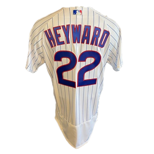 Photo of Jason Heyward Game-Used Jersey -- Cardinals vs. Cubs -- 7/10/21 -- Size 44T + 1B