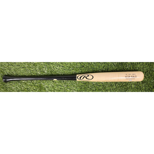 Photo of Game-Used Victor Robles Bat from World Series Game 7