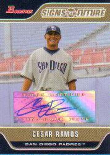 Photo of 2006 Bowman Signs of the Future #CR Cesar Ramos E