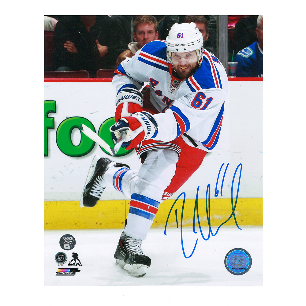 RICK NASH Signed New York Rangers 8 X 10 Photo - 70315 A