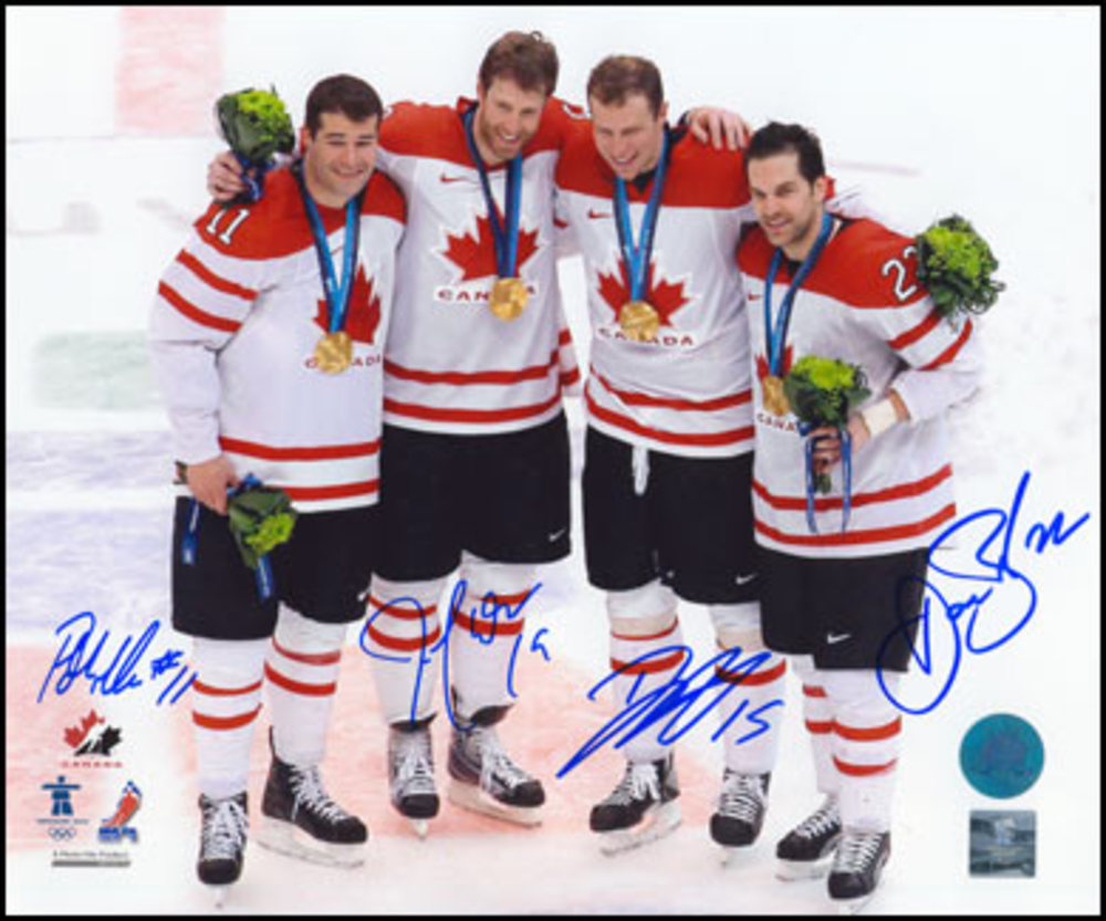 THORNTON-HEATLEY-MARLEAU-BOYLE SIGNED Team Canada 8x10 Photo Olympic Gold Photo