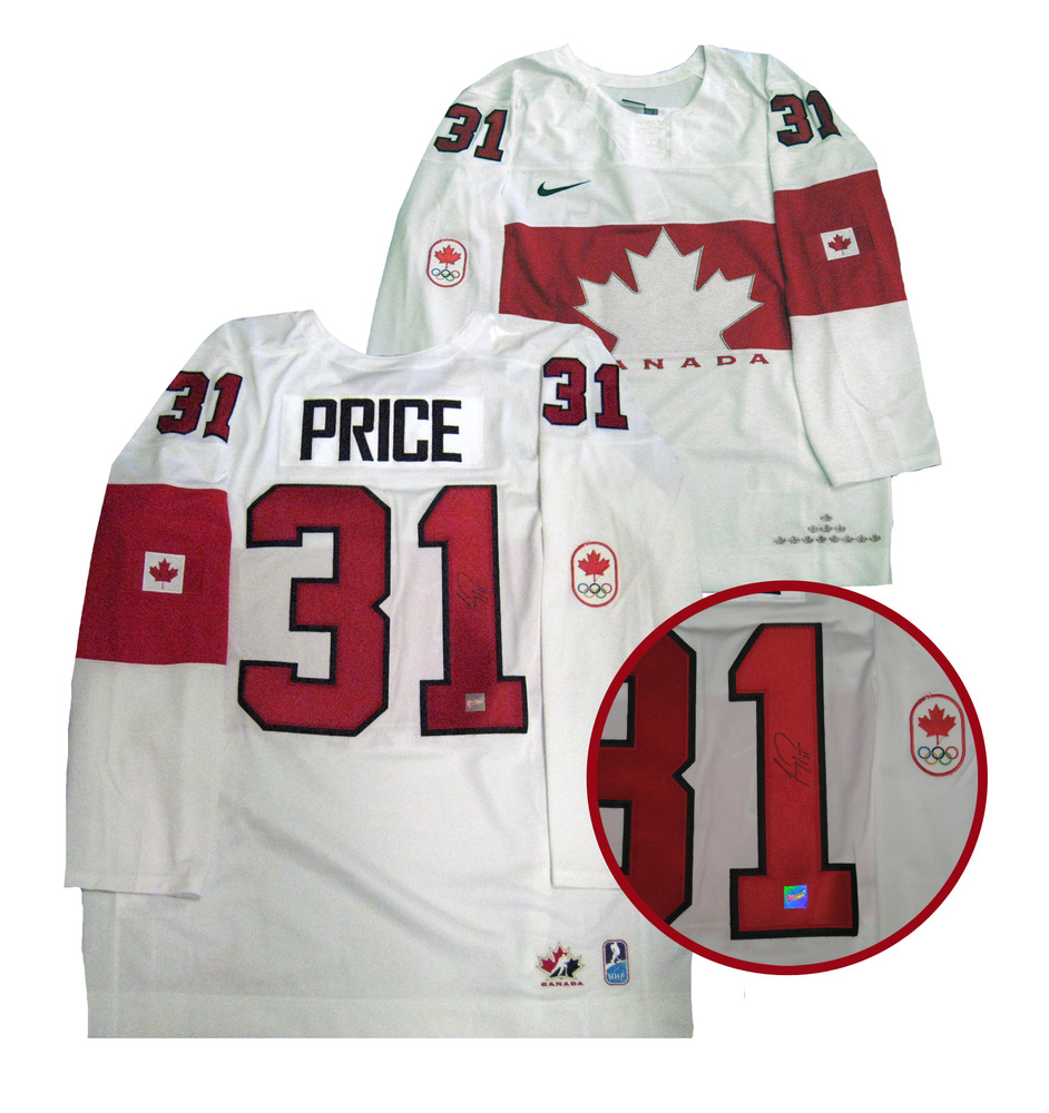 Carey Price - Signed Team Canada White 2014 Olympics Jersey