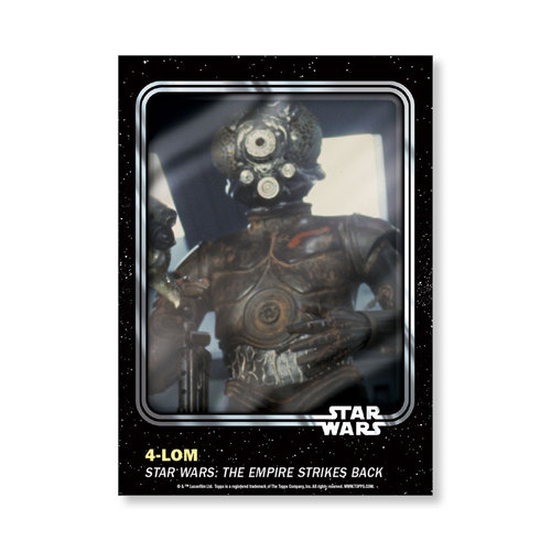 4-LOM 2016 Star Wars Card Trader Base Poster - # to 99