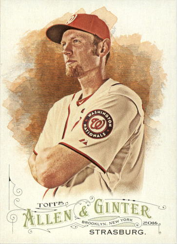 Photo of 2016 Topps Allen and Ginter #282 Stephen Strasburg