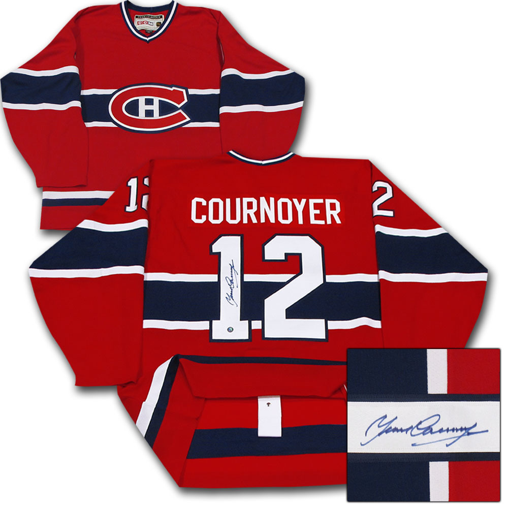 b3ad79451b3 Yvan Cournoyer Autographed Montreal Canadiens Authentic Pro Jersey ...
