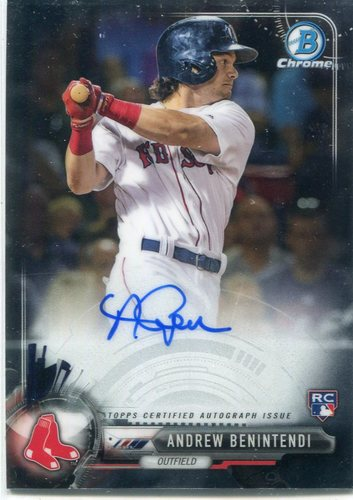 Photo of 2017 Bowman Chrome Rookie Autographs Andrew Benintendi