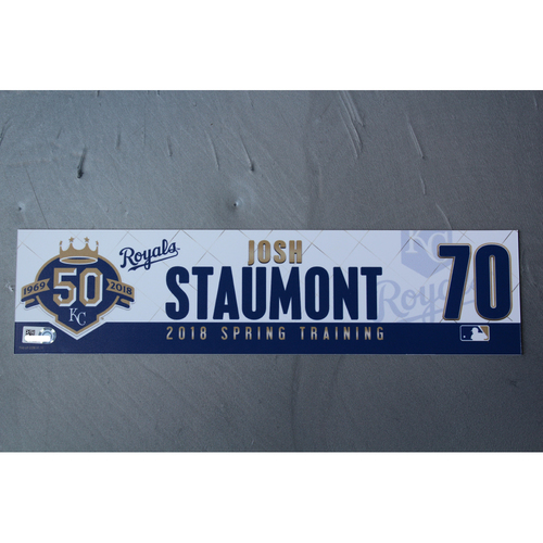 Photo of Spring Training Locker Nameplate: Josh Staumont