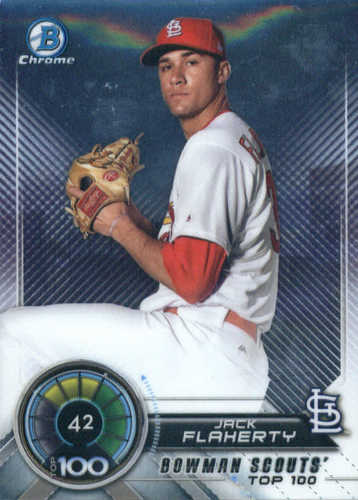 Photo of 2018 Bowman Chrome Scouts Top 100 #BTP42 Jack Flaherty