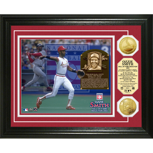 Photo of Ozzie Smith Baseball HOF Gold Coin Photo Mint